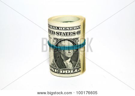 Banknotes Us Dollars Related To The Stack