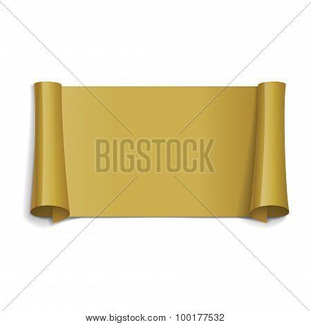 Gold Glossy Vector Ribbon