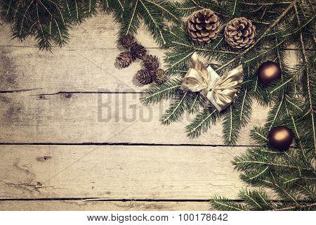 Vintage Filtered Christmas Background