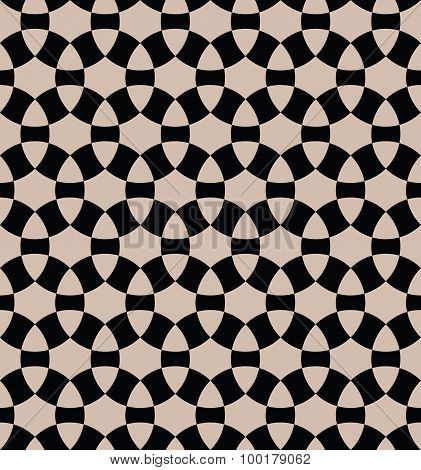 Geometric Pattern Consisting Of Segments Of A Circle