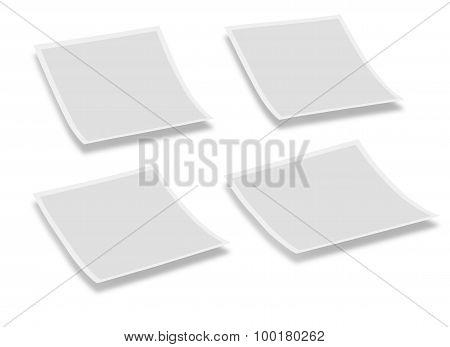 Four instant photo Plates