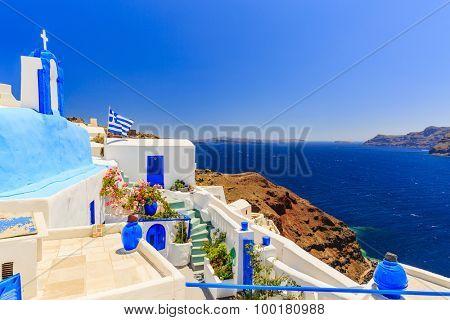 Oia, Santorini, Greece - typical view