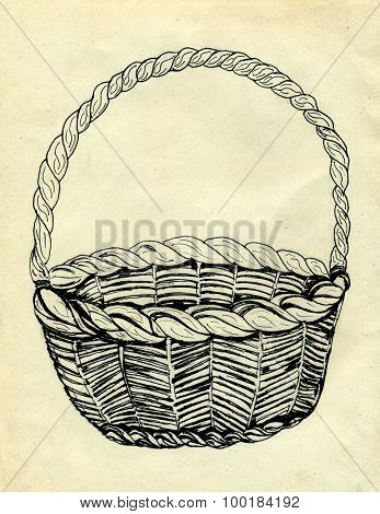 Wicker Basket Sketch