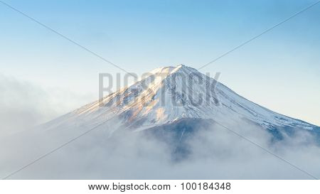 Mount Fuji In The Morning At Kawaguchiko Japan