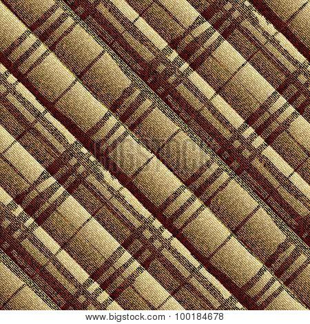 Diagonal textured brown plaid.