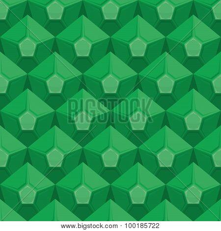 Emerald Seamless Texture. Gem Background. Vector Green Ornament.