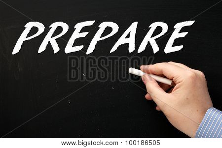 Writing Prepare on a Blackboard