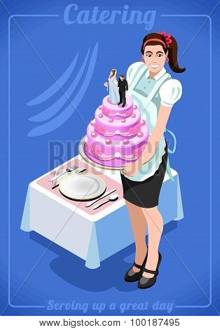 Catering Services People Isometric