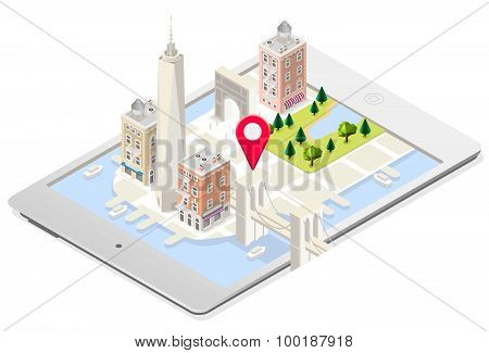 Nyc Map 02 Building Isometric
