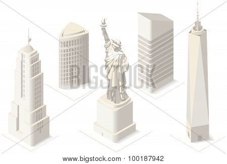 Nyc Map 05 Building Isometric