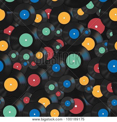 Vector bright vinyl seamless pattern