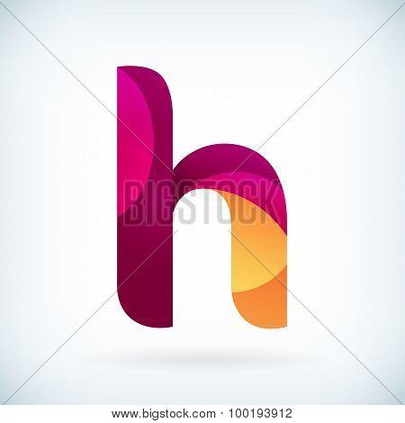 Modern Twisted Letter H