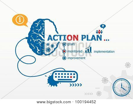 Action Plan Concept And Brain.