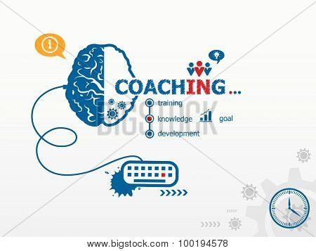 Coaching Design Illustration Concepts For Business