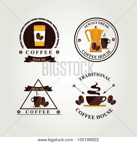 Coffee badge,label, icon menu.