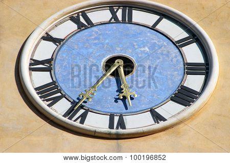 Close-up Clock On A Church