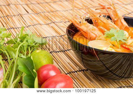 Tom Yum Goong, Thai Hot Spicy Soup Shrimp