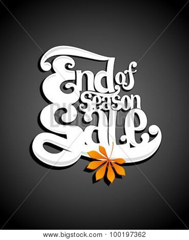 Typographic illustration end of season sale.