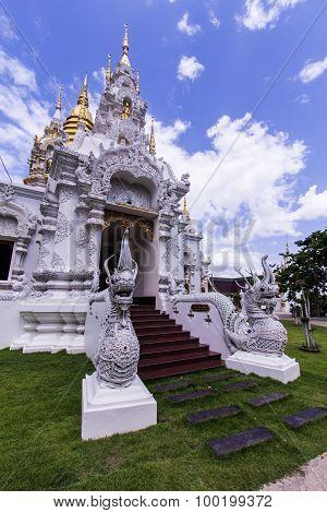 Pagoda In Wat Sri Don Moon , Chiangmai Thailand