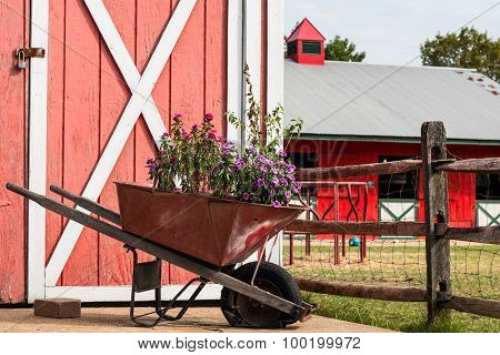 Wheelbarrow on Farm