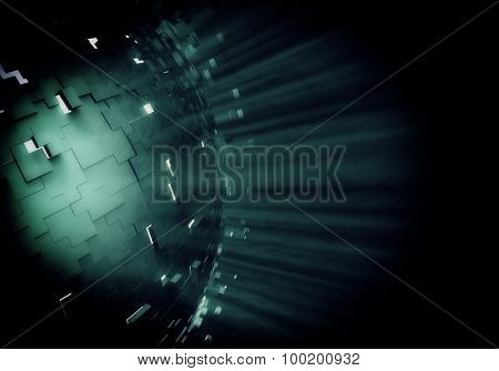 3d explosion background