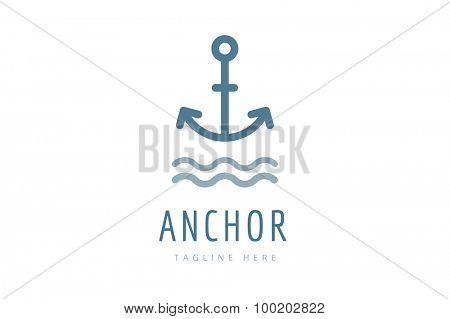 Anchor vector logo icon. Sea anchor logo. Sailor anchor tattoo, anchor symbol. Anchor company logotype. Anchor icons flat. Vintage anchor old style template. Retro anchor shape