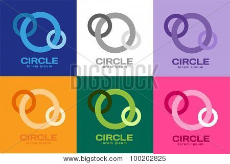 Technology circle logo. Orbit rings logo. Vector circle logo design. Abstract circle logo template. Round ring shape. Infinity ring symbol, technology circle icon, thin line circle logo. Company round