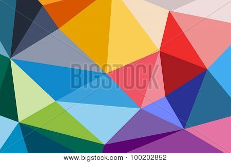 Abstract triangle background design. Vector technology wallpaper. Technology background. Triangle pattern, color lines background, geometric art background. Wallpaper pattern. Web background design.
