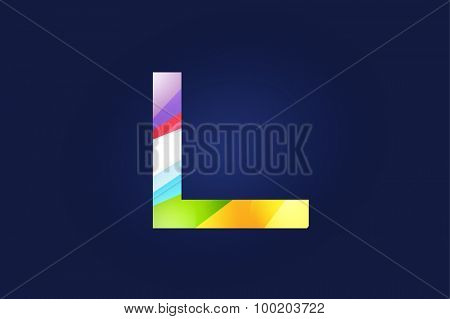 L letter vector. L logo icon template. L symbol silhouette. L isolated icon, L line style letter, L logotype, L logotype, L modern symbol, L company name brand.