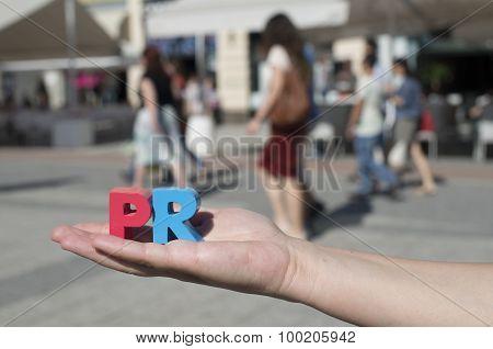 Women Hold Wooden Letters Pr
