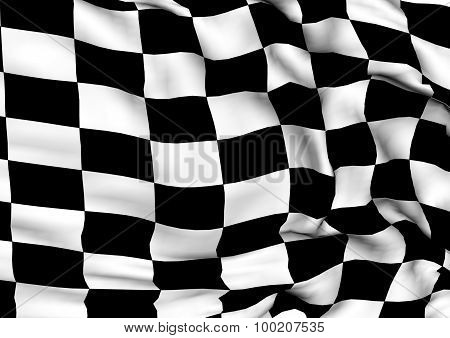 Glossy Flag Of End Race.