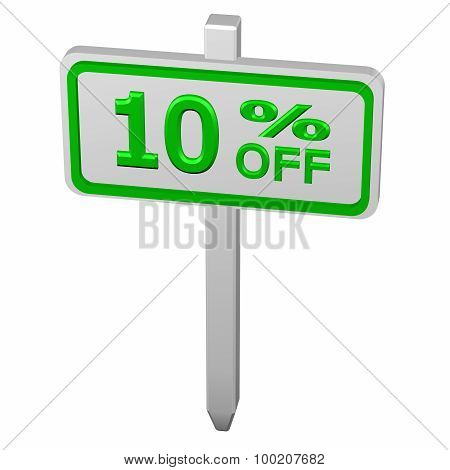 Pillar With Sign Discount 10 % Off