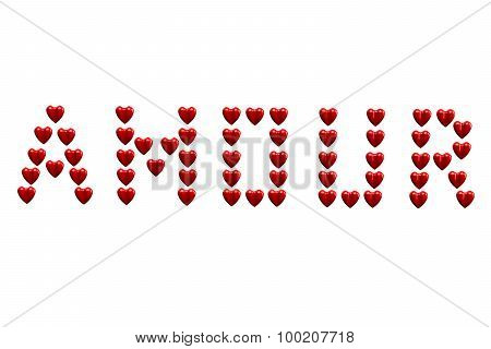 Word Amour Isolated On White Background