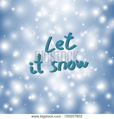 shiny snowflakes falling
