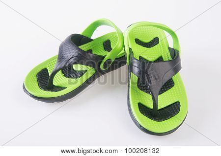 Kids Sandals Isolated On The Background