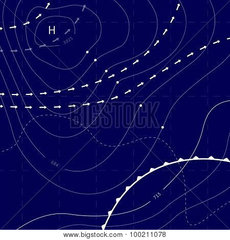 abstract weather map