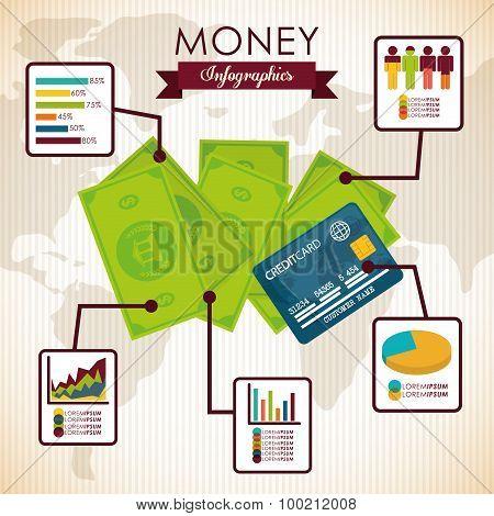 Money infographic design.