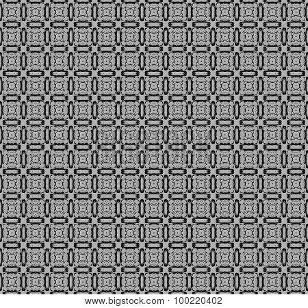 Seamless square pattern gray black