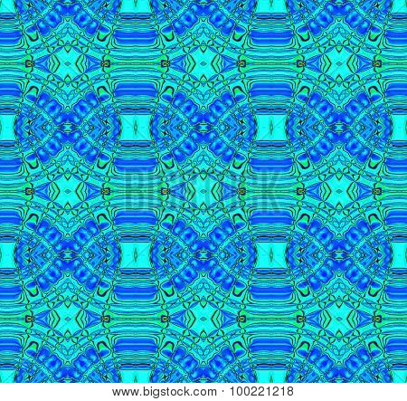 Seamless diamond pattern turquoise blue