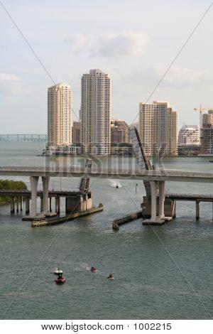 Miami Skyline With Bridge