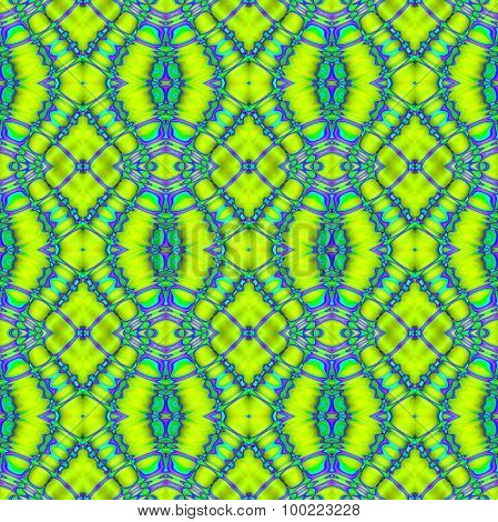 Seamless diamond pattern bright green