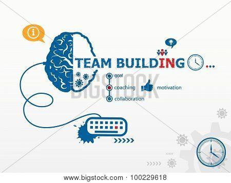 Team Building Design Illustration Concepts For Business