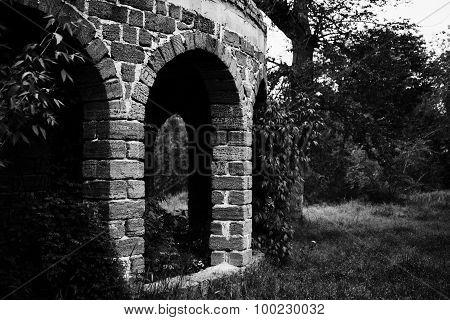 Old Stone Ruined Gazebo