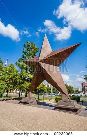 Texas Star In Front Of The Bob Bullock Texas State History Museum In Downtown Austin,