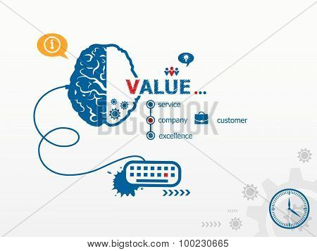 Value Design Illustration Concepts For Business
