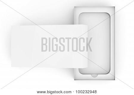 3D Render Empty Smartphone Box