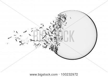 Glass Ball Exploding