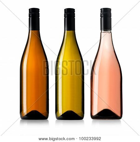 Set Of D Wine Bottles.