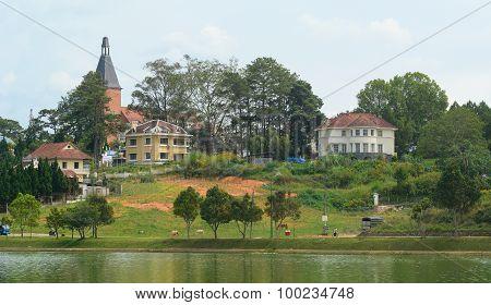 View Of Dalat City And Xuan Huong Lake