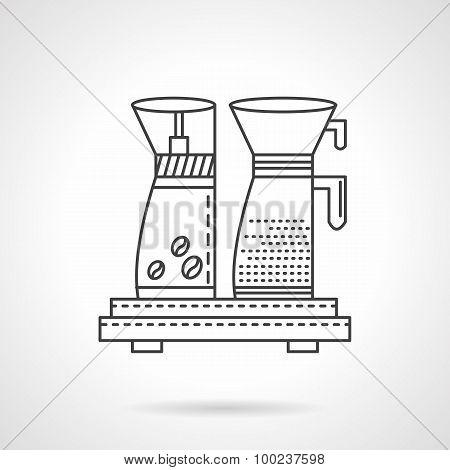 Coffee maker line vector icon